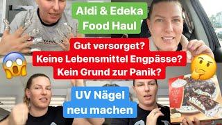 """Aldi & Edeka Food Haul l """"Wir sind gut versorgt in Deutschland"""" l Schockierendes Gespräch!"""