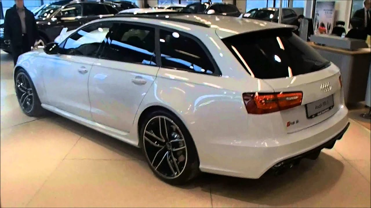 2014 Audi RS6 Avant C7 -Glacier white with carbon package(walkaround) - YouTube