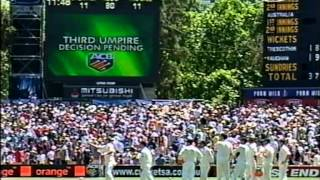 Worst Ashes cheating- Michael Vaughan refuses to walk, catch was clearly out. Admitted it was out.