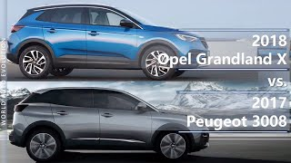 2018 Opel Grandland X vs 2017 Peugeot 3008 (technical comparison)