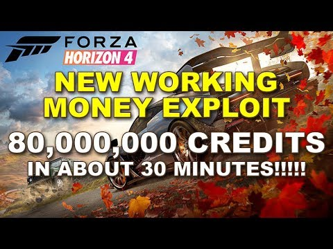 How to make 80,000,000cr in about 30 mins on Forza Horizon 4! Working Credit Exploit! thumbnail
