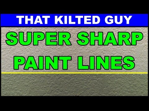 Clean & Straight Paint Lines for Walls, Ceilings or Trim.  Learn this simple trick
