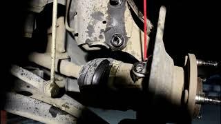 замена переднего ступичного подшипника  1часть Mitsubishi ASX Мицубиси АСХ 1,8 2013 года