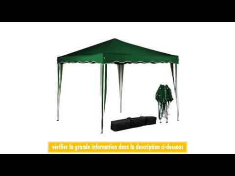 tente pavillon tonnelle de jardin couleur 3x3 mtres vert pliable youtube. Black Bedroom Furniture Sets. Home Design Ideas