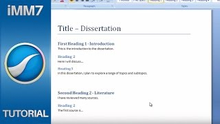 Importing Word Documents - iMindMap 7