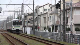 東急多摩川線 1000系1500番台024121列車 鵜の木駅到着 2015年12月23日