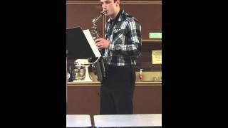 WA State Educators Competition 2014/15. - Michael Galeotti (Third Place Winner, Soprano/Alto Sax)