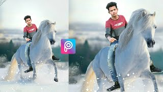 HORSE RIDING PHOTO EDITING || PICSART HORSE PHOTO EDITING || PICSART 2018 EDITING TUTORIAL