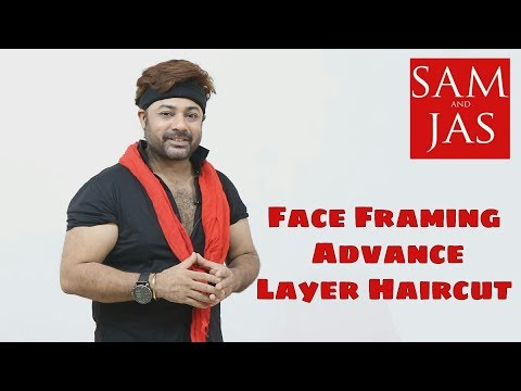 Face Framing Advance Layer Hair Cut By Jas ... Tutorial In Hindi