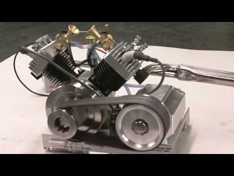 Thumbnail: Early Run of My V-Twin model Engine by Terry Mayhugh