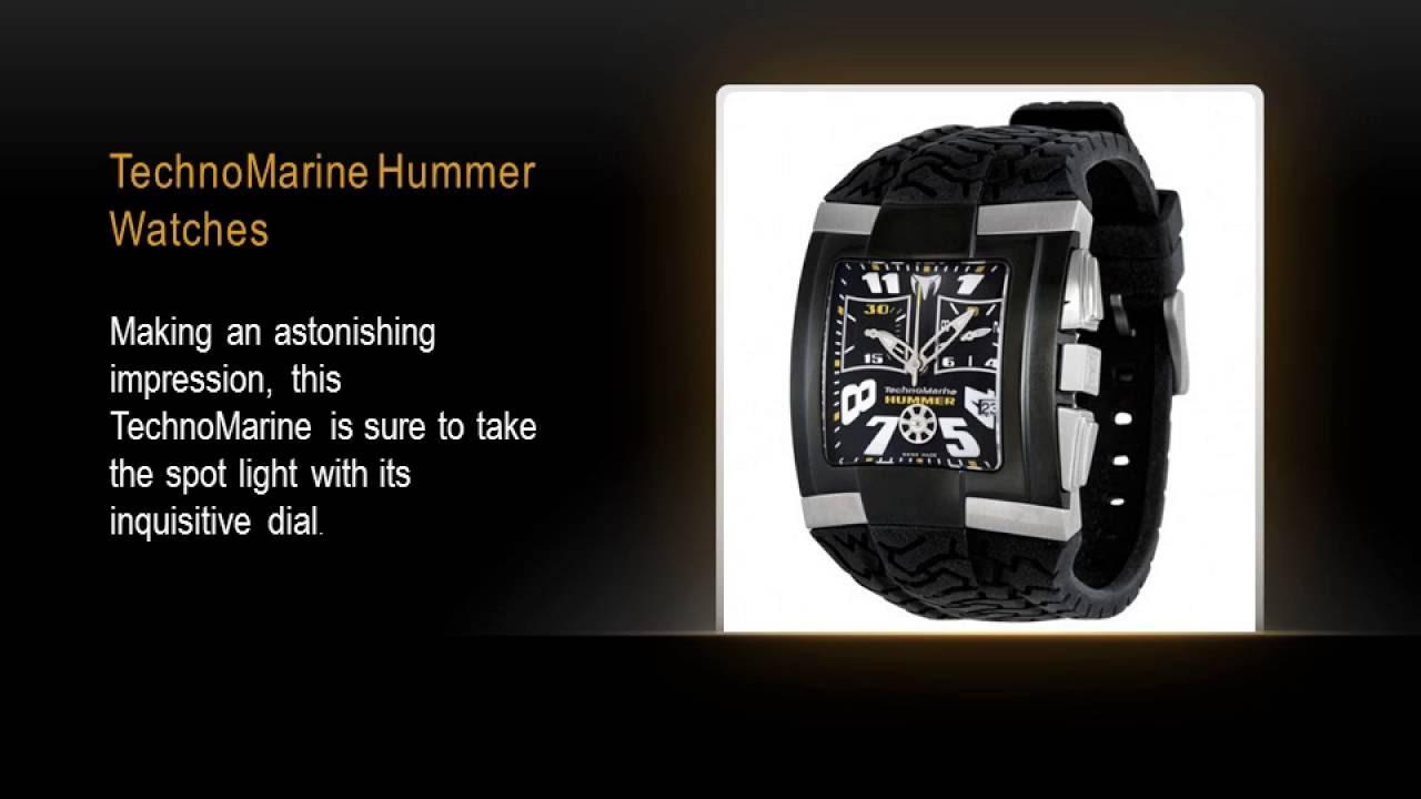 TechnoMarine Hummer Watches - YouTube