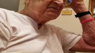MY 98 YEAR OLD DAD'S REACTION WHEN HE FINDS OUT HOW OLD HE REALLY IS! (WARNING:FOUL LANGUAGE)
