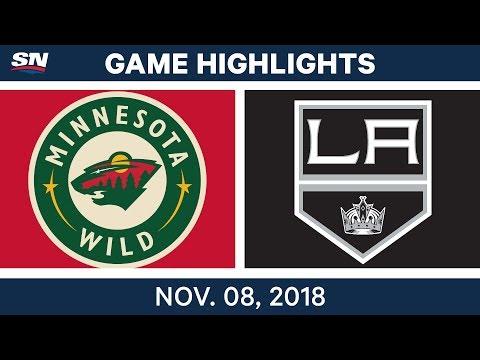 NHL Highlights | Wild vs. Kings – Nov. 8, 2018