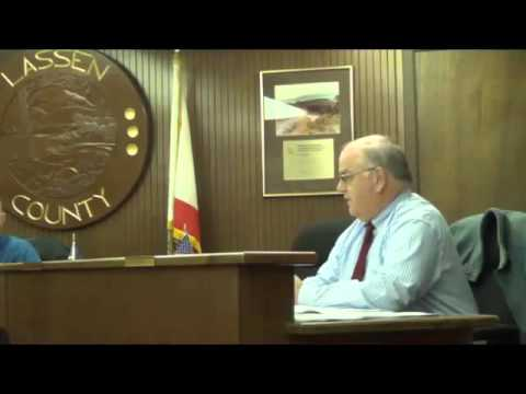 Part 1 Lassen County Board of Supervisors Meeting, December 8, 2015