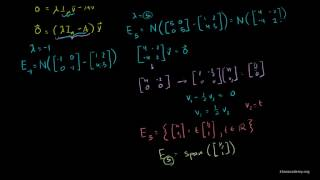Linear Algebra Finding Eigenvectors and Eigenspaces example