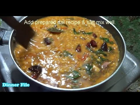 Red Gram Tomato Curry   A Dal Recipe by Dinner File