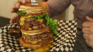 """Rebel Without A Kitchen - Matt Tackles the """"Go Chuck Yourself"""" Burger at Holy Chuck"""
