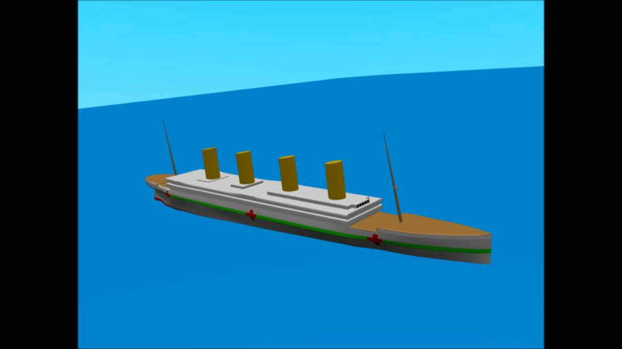Britannic sinking animation