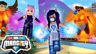 Can this team of super heroes save the world? (1/2) . . . 🔥 . . . . . . . . . . . . . . ROBLOX: MAD CITY