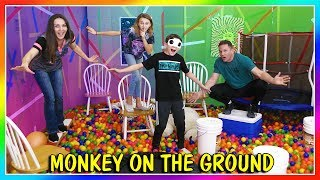 MONKEY ON THE GROUND IN A BALL PIT | We Are The Davises