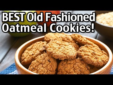 The BEST Old Fashioned Oatmeal Cookies Recipe!