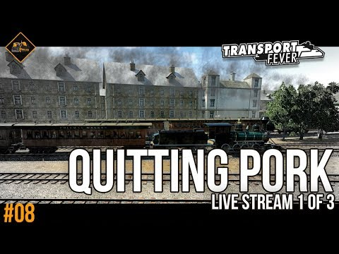Quitting use of pork barrels (eventually) | Transport Fever Metropolis #8 live stream part 1 of 3
