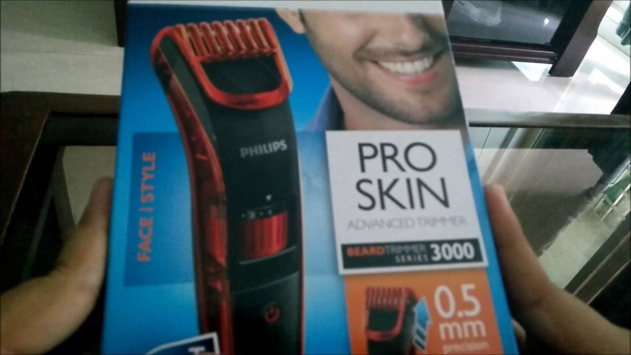 philips pro skin advanced trimmer beard trimmer series 3000 unboxing youtube. Black Bedroom Furniture Sets. Home Design Ideas