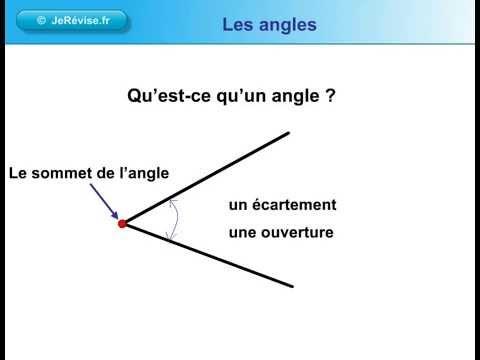 Qu 39 est ce qu 39 un angle g om trie youtube - Comment couper un angle a 45 degres ...