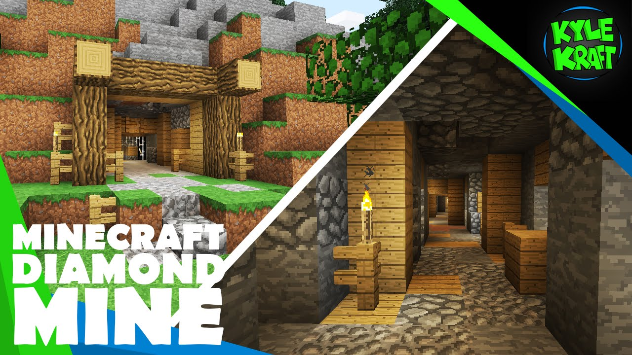 build a classic diamond mine in minecraft youtube
