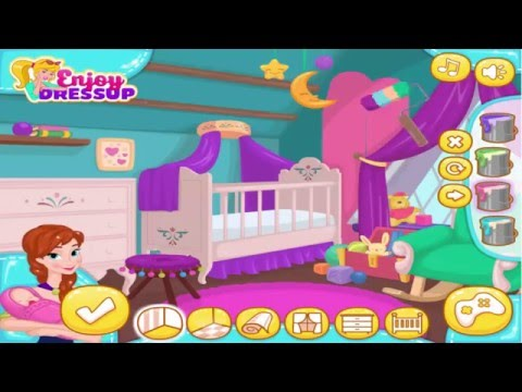 Frozen games Anna's Newborn House Makeover Trang trí nhà cho em bé của Anna