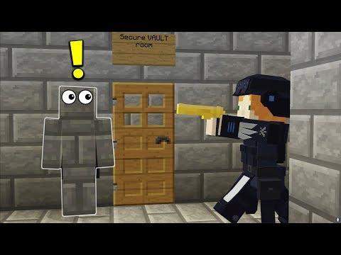Sneaking Into Enemies Vault (Secure Bunker)   Minecraft WAR #38