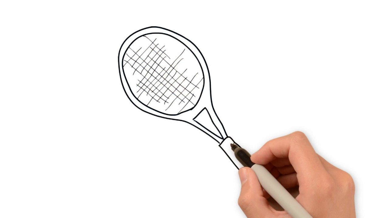 How To Draw Tennis Racket Youtube