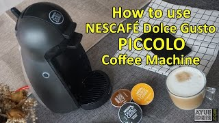 tutorial how to use nescafe dolce gusto piccolo coffee machine