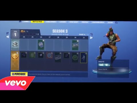 Fortnite Dance - Take The L Emote Remix (Official Music video) ft. Muselk