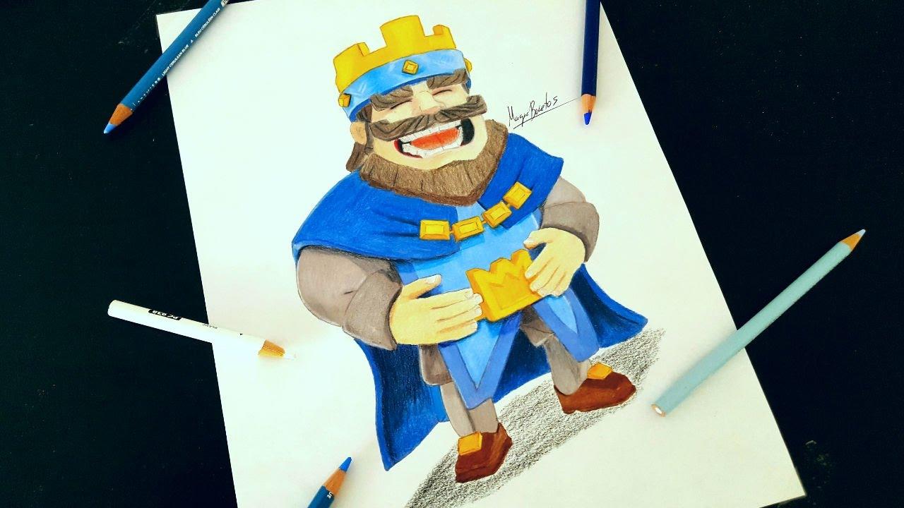 Como Dibujar Al Principe Oscuro: Cómo Dibujar Al REY De CLASH ROYALE/How To Draw KING CLASH