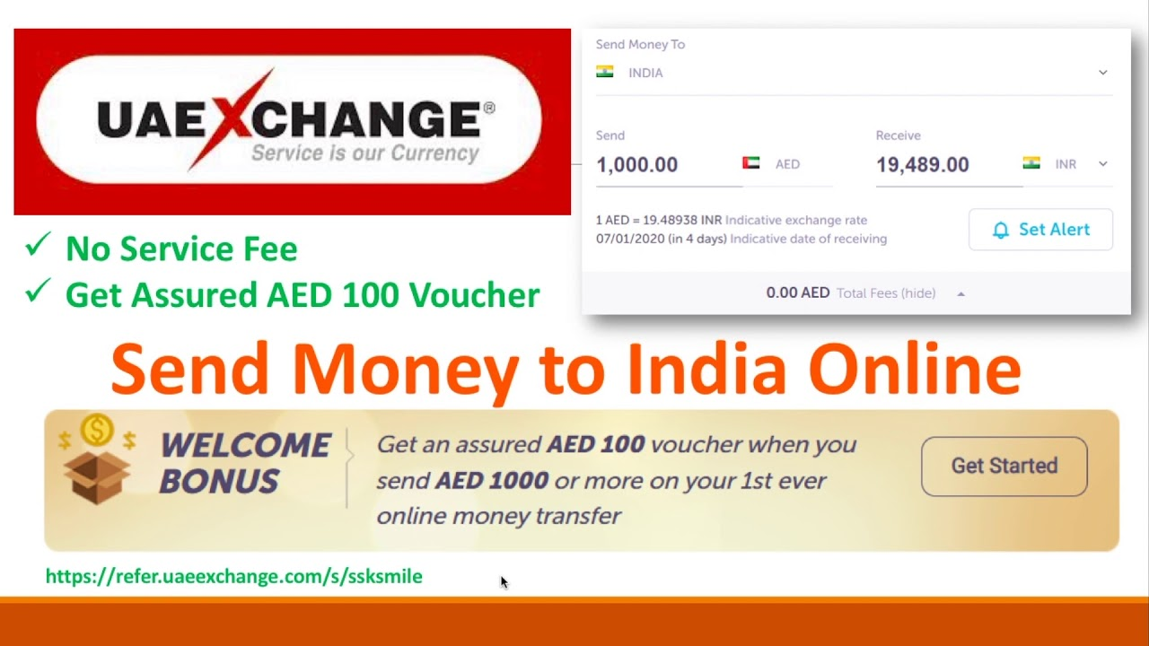 Send Money To India Online No Service Charges Assured Aed 100 Voucher Tamil தம ழ Youtube