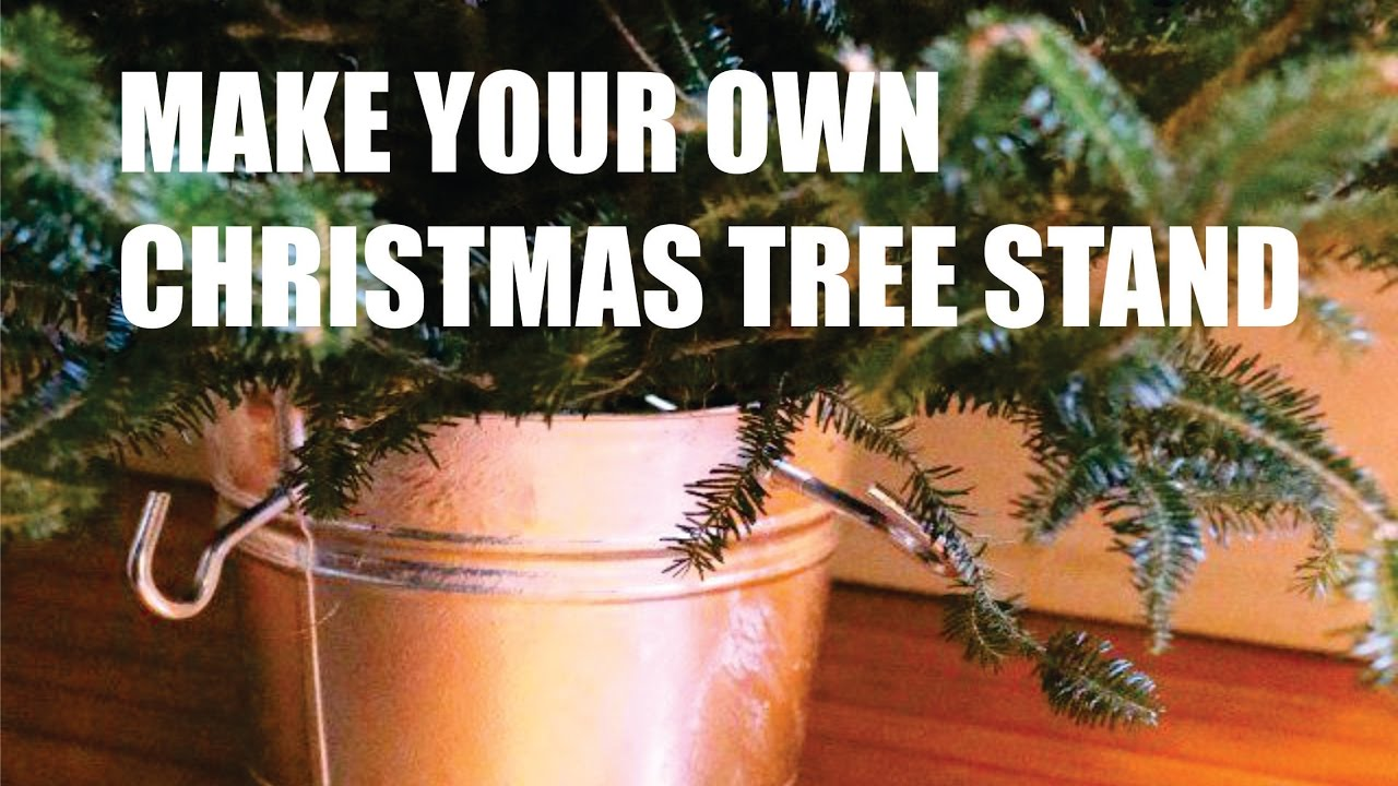 Diy Cristm Tree Stand Homemade Video Tutorial