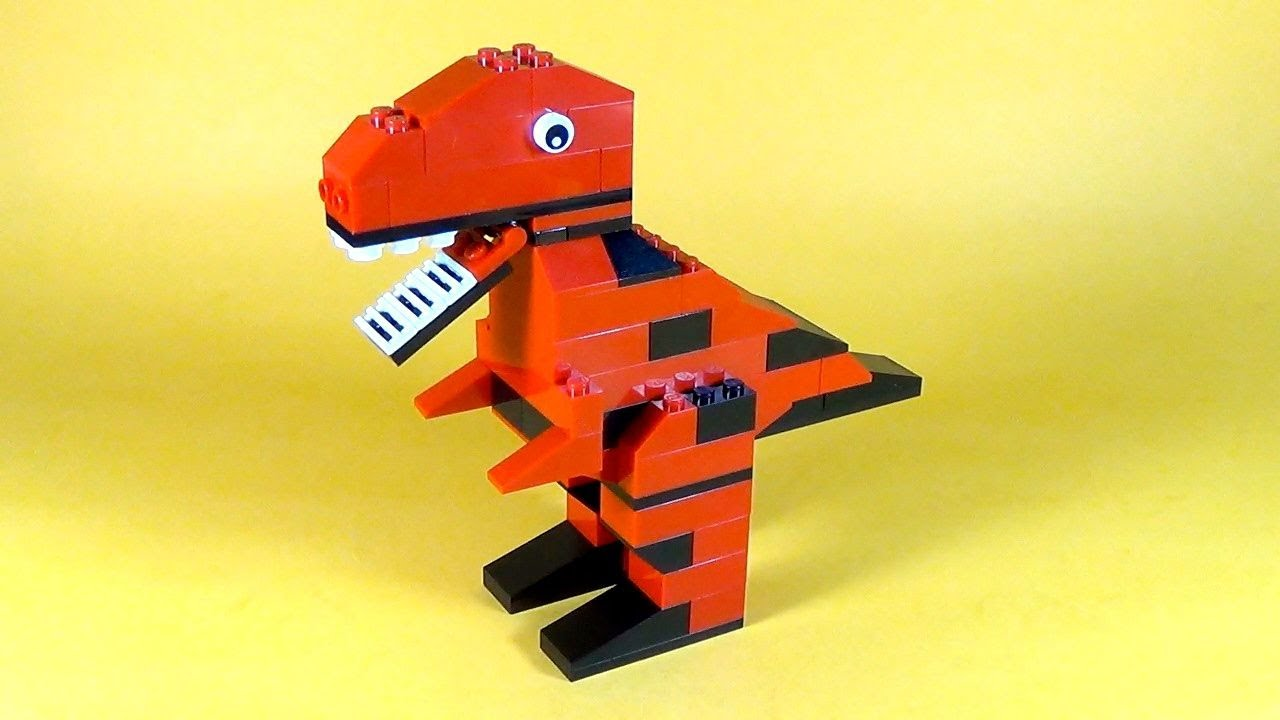 How to make lego dinosaur t rex 10664 lego bricks and for Modele maison lego classic