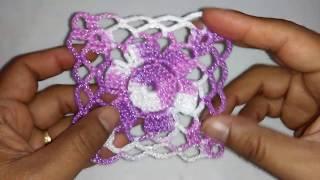 Aprende a tejer Cuadro crochet para blusa