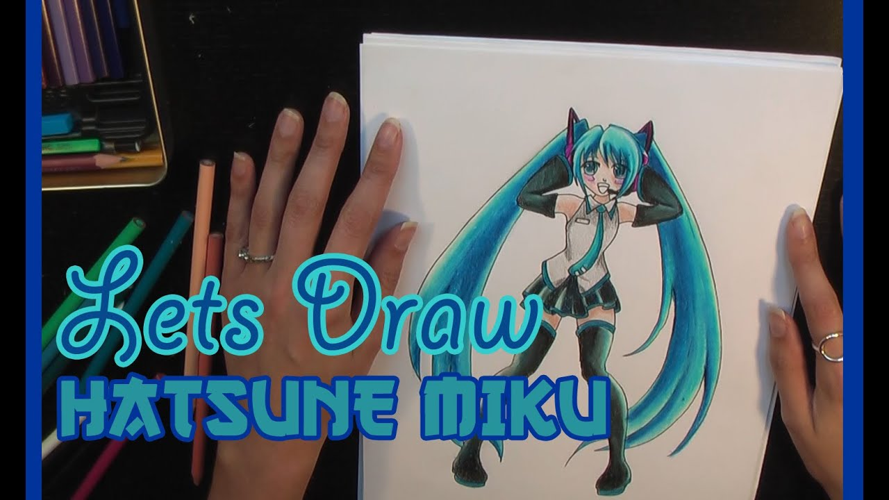 How to Draw Hatsune Miku from Vocaloid in Pencil - YouTube
