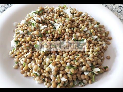 Salade de lentilles شلاظه بسيطه وفوائدها كثيره