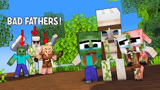 Season 9: Poor BABY Zombie, Pigman and Iron Golem: Very TOUCHING Story: Monster School Minecraft