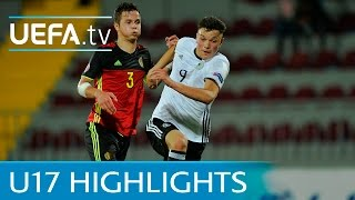 See how Germany narrowly beat Belgium to qualify for the semi-final...