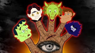 Transylvania Spooky Monsters Finger Family | Crazy Skeleton Dance | Annie & Ben Scary Cartoon Rhymes