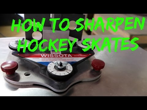 How To Sharpen Hockey Skates - Wissota Skate Sharpener