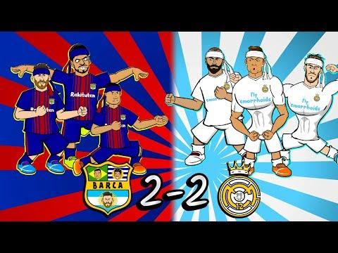 🤜🏻🥋2-2 EL CLASICO: KUNG-FU FIGHTING!🥋🤛🏻 (Barcelona vs Real Madrid parody song highlights goals 2018)