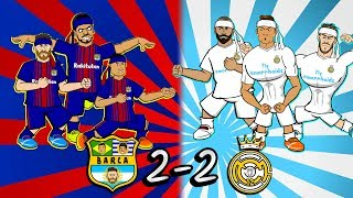 🤜🏻🥋2-2 EL CLASICO: KUNG-FU FIGHTING!🥋🤛🏻 (Barcelona vs Real Madrid parody song highlights goals 2018)