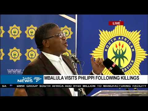 Fikile Mbalula addresses community of the Cape Flats