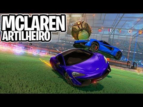 ARTILHEIRO APENAS COM O SUPER CARRO LINDÃO MCLAREN! GOLEADA? - Rocket League thumbnail