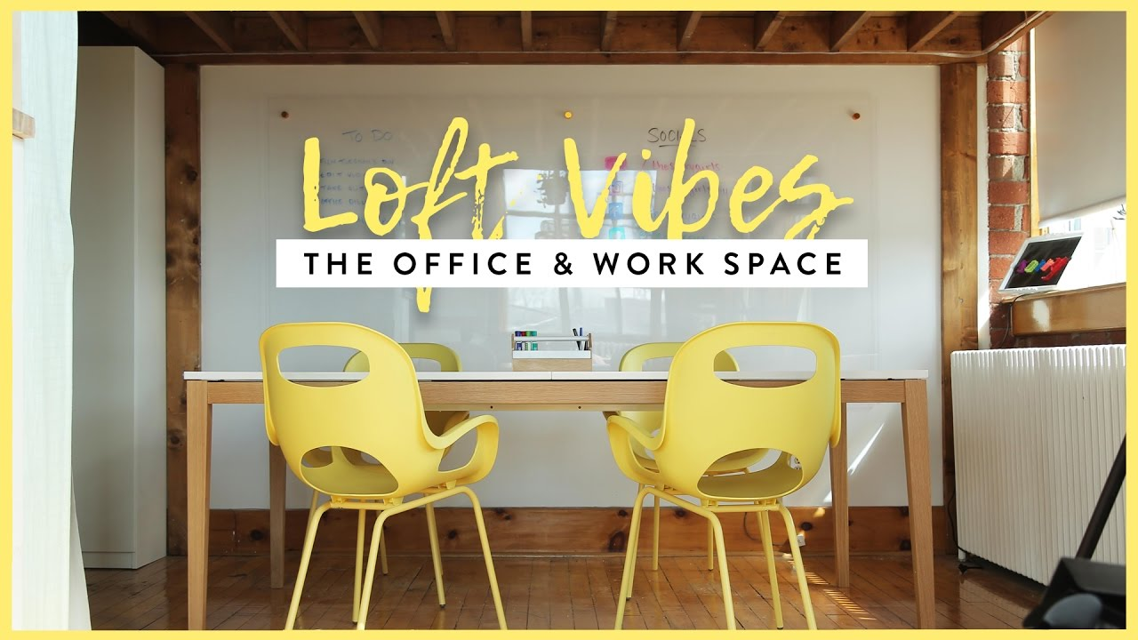 OUR OFFICE & WORK SPACE MAKEOVER - YouTube